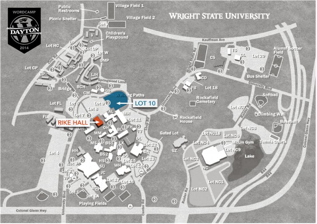 WCDayton - Parking Map